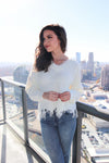 White Fringe-Hem Sweater - Shop Core Collection