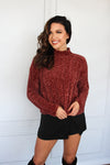 Brick Chenille Turtleneck Sweater - Shop Core Collection