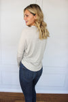 Grey Waffle Knit Top - Shop Core Collection
