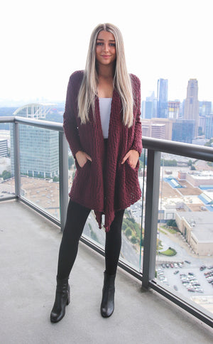 Maroon Cardigan - Shop Core Collection
