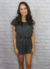 Grey Ruffle Romper - Shop Core Collection