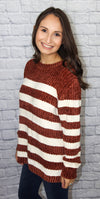 Chenille Striped Sweater - Shop Core Collection
