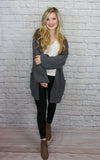 Grey Criss-Cross Cardigan - Shop Core Collection