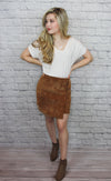Brown Side Circle Skirt - Shop Core Collection