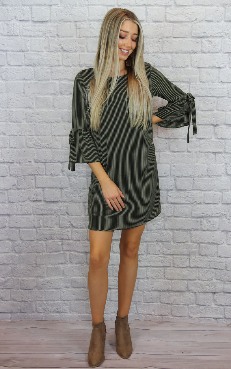Olive Striped Dress - Shop Core Collection