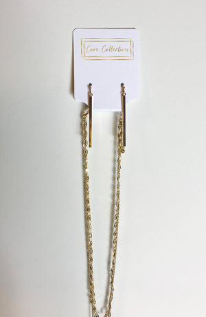 Gold Multi-Layered Necklace with Earrings - Shop Core Collection