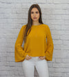 Mustard Bell-Sleeve Top - Shop Core Collection