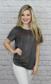 Grey Suede Top - Shop Core Collection