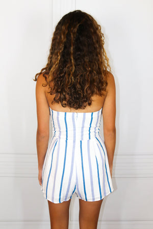 Blue Striped Romper - Shop Core Collection