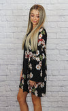 Black, Floral Dress - Shop Core Collection