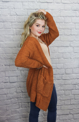 Orange Knit Cardigan - Shop Core Collection