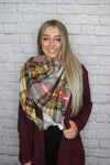 Neutral Checkered Scarf - Shop Core Collection