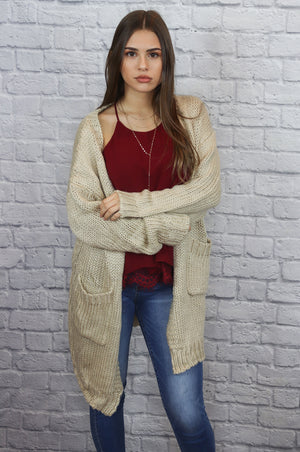 Beige Knit Cardigan - Shop Core Collection
