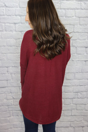 Red Tie Front Sweater - Shop Core Collection