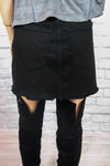 Black Denim Tie-Up Skirt - Shop Core Collection
