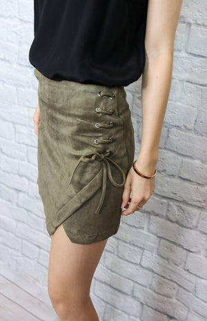 Green Side Tie Skirt - Shop Core Collection