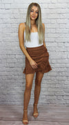 Brown Ruffle Skirt - Shop Core Collection