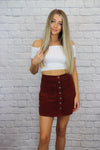 Red Corduroy Skirt - Shop Core Collection