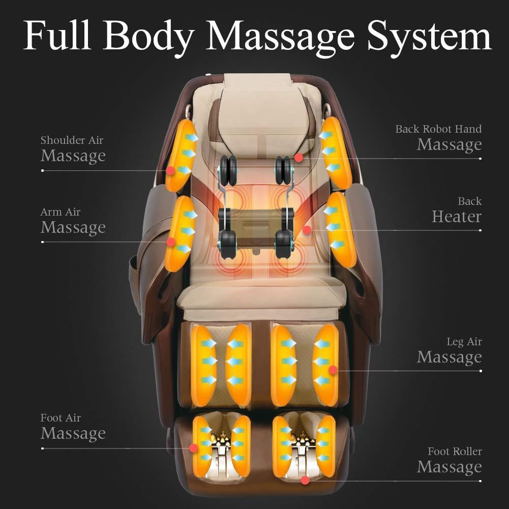 Platinum series PS-5000 SL-TRACK Zero-Gravity Full-Body 3D Shiatsu Massage Chair by RealRelax™
