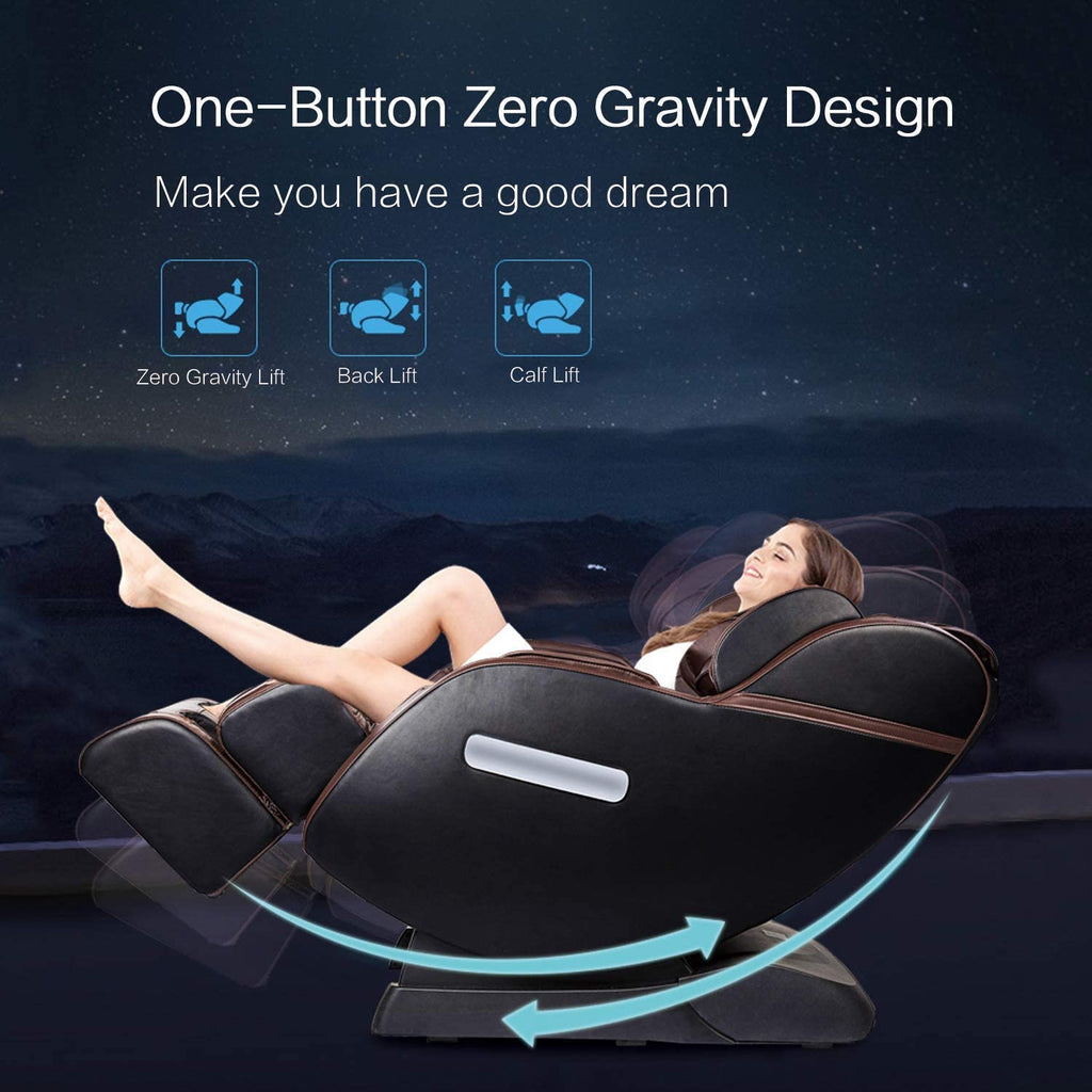 [Canada Only] Favor-L1  Robotic SL-Track Real Relax Massage Chair, Zero Gravity Full Body Space-Saving Recliner with Foot Rollers and Bluetooth Audio Play