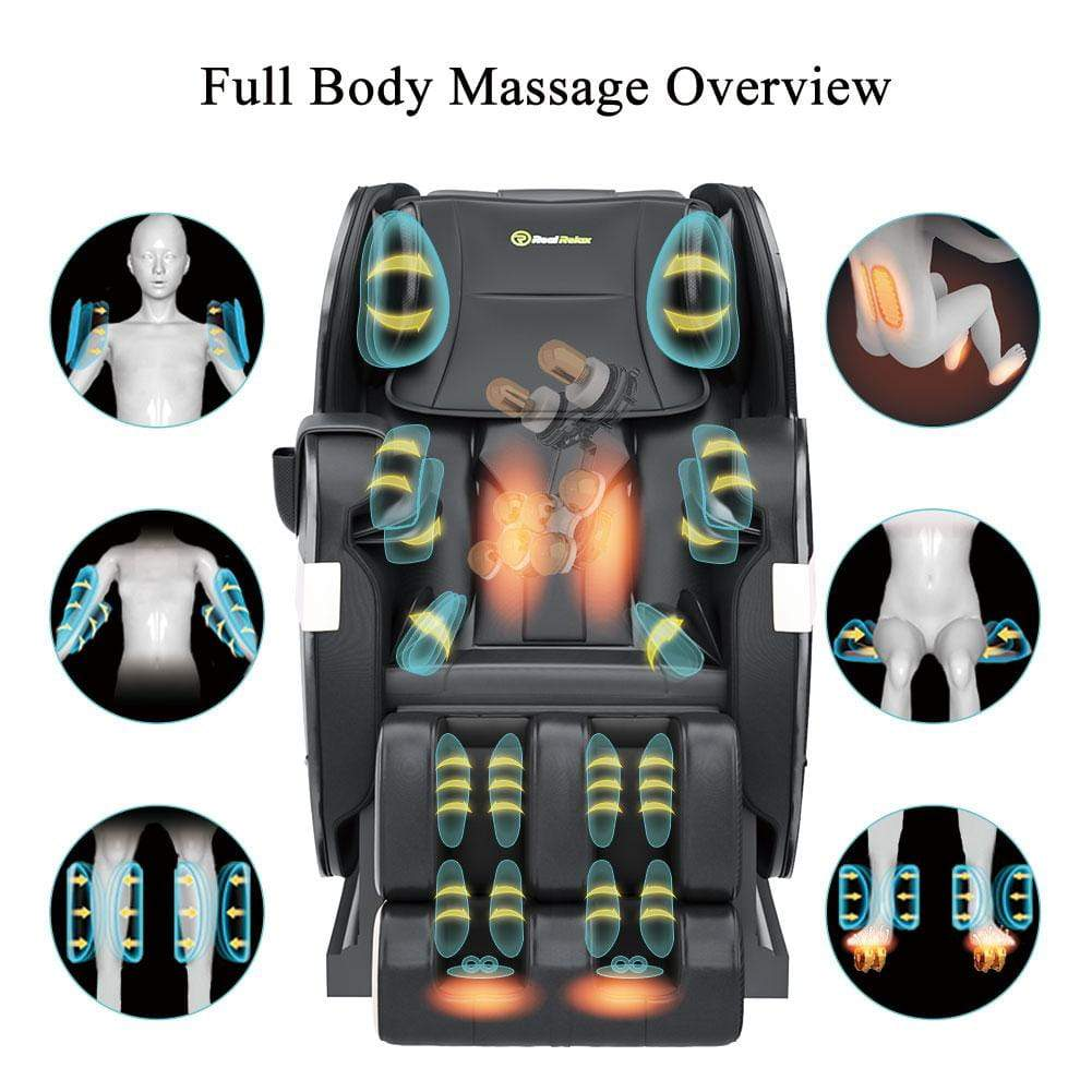 Favor-03 PLUS Full Body Shiatsu Massage Chair Recliner by Real Relax™