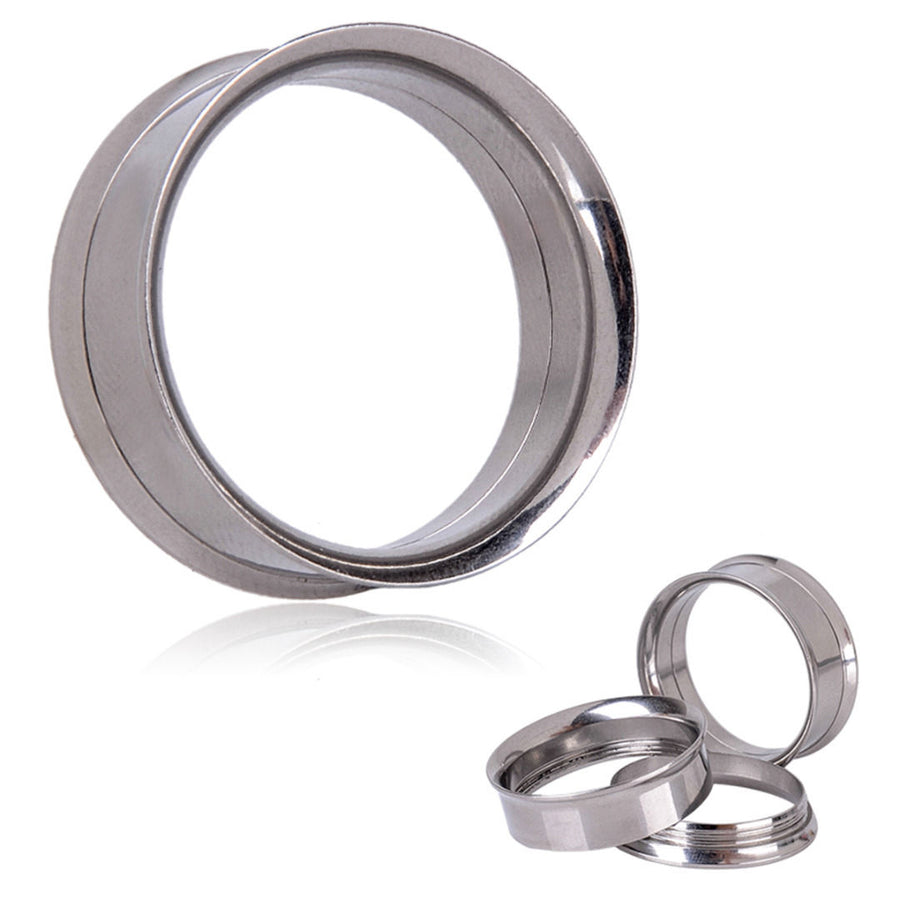 Stainless Steel Double Flared Tunnel - Pair