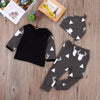 Clothing Sets - 0-24M fall 3pcs new kids toddler infant Newborn Baby Girl Boy Deer Tops T-shirt+pant Leggings Hat Outfits clothes Pajamas Set -   jetcube