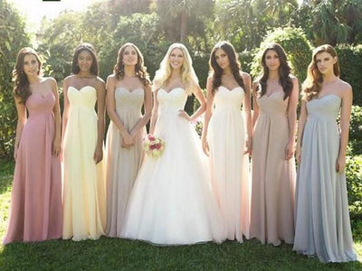 Bridesmaid Dresses - 0039 dusty rose pink light yellow dark teal silver grey strapless bridesmaid dress maxi plus size fashion design -   jetcube