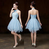 Bridesmaid Dresses - 016 New In Stock Cheap Junior Bridesmaid Dresses Strapless More Style Choose Short Wedding Bridal Party Prom Chiffon Women Dress -   jetcube
