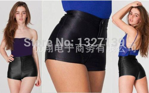 womens shorts - 03 NEW High Waist Women Girls Shiny Stretch Disco Shorts Fashion Apparel Hot shorts -   jetcube