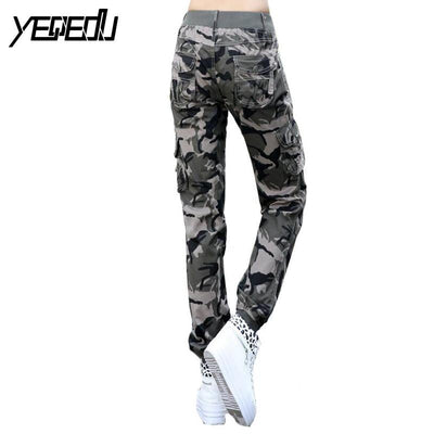 Pants & Capris - #0904 2017 Summer Camouflage pants women Cargo pants women Military trousers Fashion Casual Loose Baggy pants Army women S-XXXL -   jetcube