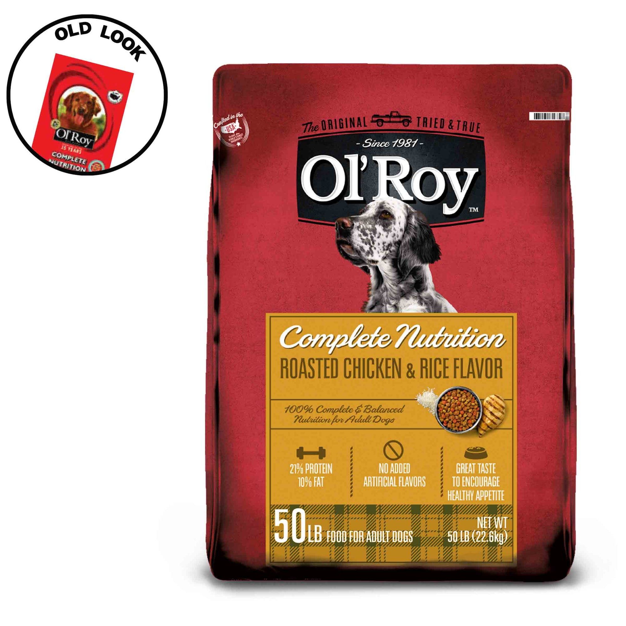 Ol' Roy Complete Nutrition Roasted Chicken & Rice Flavor Dry Dog Food, 50 lb