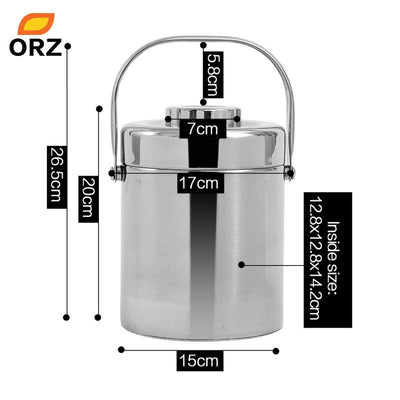 Dinnerware - 1.8L Thermos Lunch Box Stainless Steel Vacuum Insulated Food Container Children Food Box Tableware Thermal Bento -   jetcube