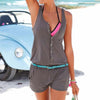Rompers - 1 Piece Short Pants Suit Sexy Summer Beach Rompers Women's Jumpsuit Shorts Sleeveless Newest -   jetcube