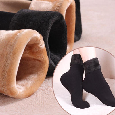 Socks - 1 pair Women Socks Winter Warm Thicken Socks Wool Home Snow Boots Cotton Socks Female Winter Velvet Floor Socks for Women 2017 -   jetcube