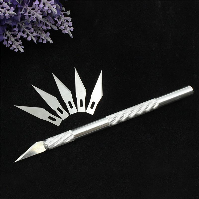 Kitchen Knives & Accessories - 1 set/ Metal Handle Scalpel Tool Craft Knife Cutter  Pen Knives Engraving Hobby DIY knife + 6 pcs Blade for Phone Laptop Repair -   jetcube