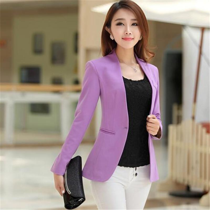 Blazers - 10 Colors Spring Women Blazers And Jackets Full Sleeve Small Suit Jacket,Blazer Feminino,Fashion Outwear Blaser Jackets C2295 -   jetcube