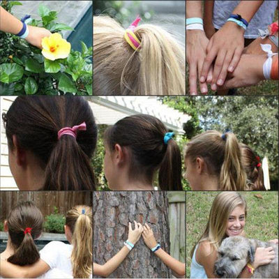 Hair Accessories - 10 Pcs Elastic Hair Tie Hair Band Pretty Knot Rubber Band Everyday Hair Accessory hair accessories -   jetcube