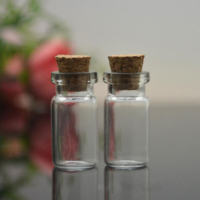 Storage Bottles - 10 pcs Cute Mini Clear Cork Stopper Glass Bottles Vials Jars Containers Small Wishing Bottle#ZH210 -   jetcube