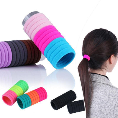 Hair Accessories - 10 pcs Elastic Rope Ring Hairband Women Hair Band Ponytail Holder High Quality Hot hair accessories -   jetcube