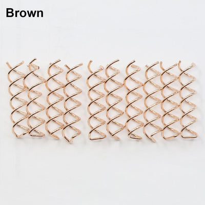 Hair Accessories - 10 pcs Gold Brown Black Spiral Spin Screw Pin Hair Clip Twist Barrette Hairwear For Hair Style.hot -   jetcube