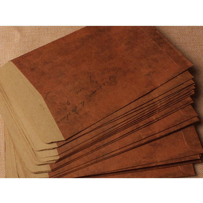 Home Office Storage - 10 pcs/lot 16*11cm Vintage Fire paint Kraft Paper Envelopes Storage Bag Scrapbooking Paper For Card Gift Free shipping -   jetcube
