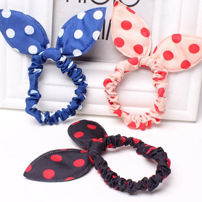 Hair Accessories - 10 pcs/lot Headbands Rabbit Ears dot Headwear Elastic Hair Band fashion headwear apparel hair accessories mg0408 -   jetcube