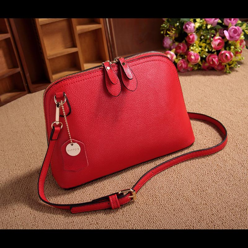 100% Genuine Cow Leather Women Bags Handbags Famous Brand Lady Real Leather Shell Designer Shoulder Bag All-match Messenger Bag