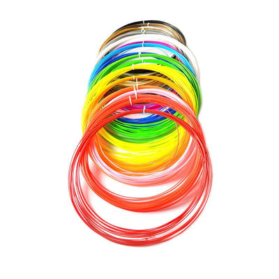 3D Printers - 100 Meters 10 colors 1.75MM PLA Filament For 3D Printing Pen Threads Plastic Printer Consumables Kids Children Gift -   jetcube