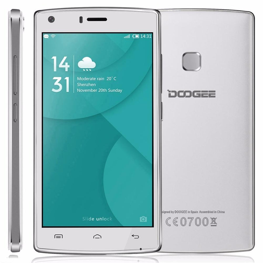 Cell Phone - 100% Original Doogee X5 MAX 5.0'' 4G LTE Mobile Phone MTK6737 Quad Core 1GB RAM 8GB ROM Android 6.0 4000mAh 8MP Smartphones -   jetcube