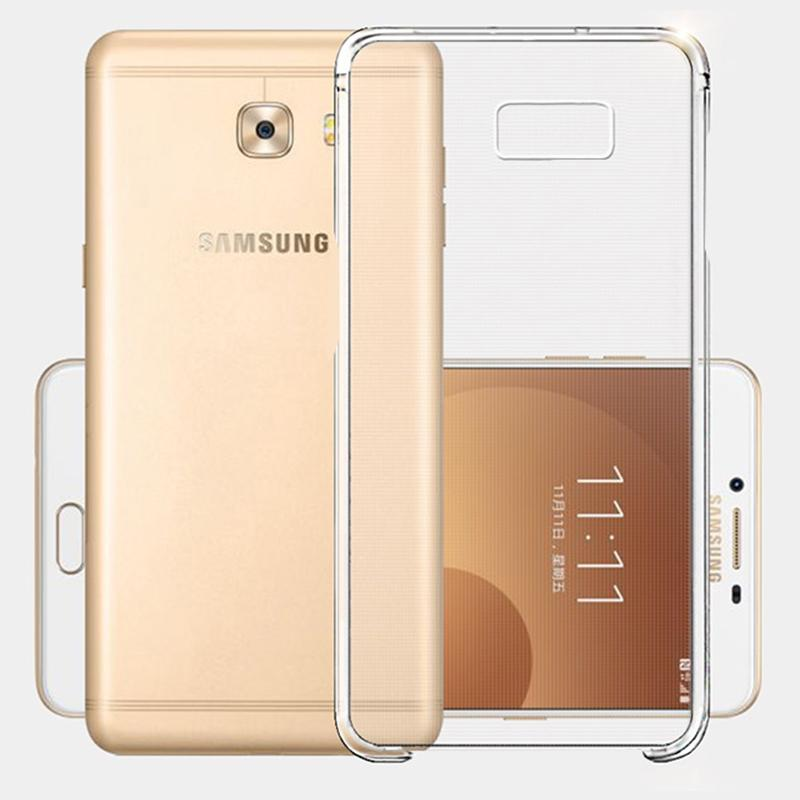 Fitted Cases - 100% Original Samsung Galaxy C9 pro Transparent Case Hard Protective shell & type c cable Ultra thin Slim Clear Cover case c9pr -   jetcube