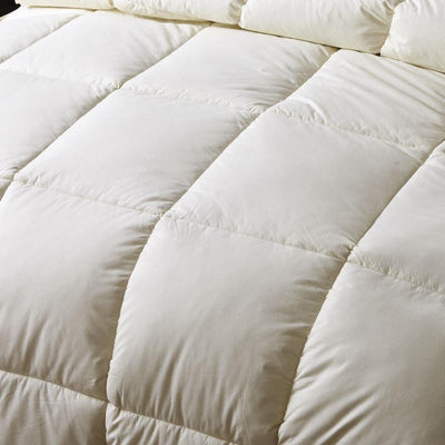 Comforters - 100% cotton Adult white duck/goose down winter quilt comforter blanket duvet filling with cotton cover twin queen king size -   jetcube