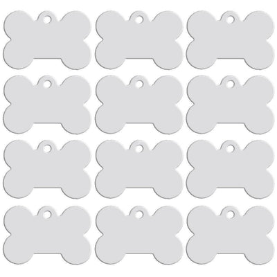 Dog Accessories - 100 pcs/lot Aluminum Pet ID Tag Bone Shape Double Sided Custom Engraved Dog Cat Pet Name Phone Number ID Tag Charm Personalized -   jetcube