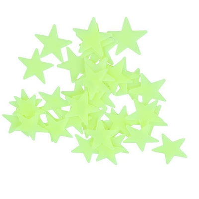 Bedroom Decoration - 100 pcs Wall stickers Sticky Decal Stars for Bedroom Decor - Fluorescent Green  jetcube